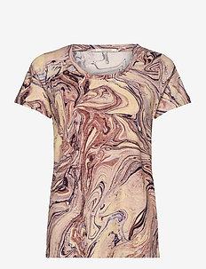 Printed short sleeve tee - t-shirts - combo h