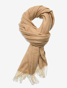 Classic scarf in wool blend quality - Écharpes - camel