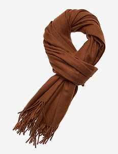 Classic scarf in wool blend quality - skjerf - chestnut