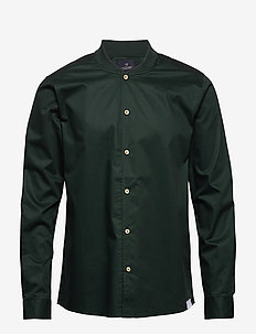 Long sleeve shirt with bomber collar - basic overhemden - lagoon green