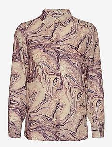 Basic button up shirt in prints - koszule z długimi rękawami - combo h