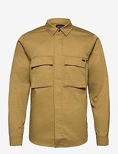 SEASONAL FIT - Clean utility shirt - tops - khaki