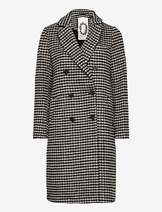 Double breasted tailored coat in wool blend - ullkåper - combo r