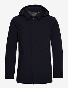 Stretch trench coat - trench coats - night