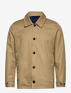 Clean reversible organic cotton coach jacket - trenchcoats - combo a