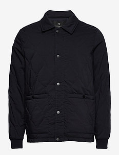 Classic quilted cotton-blend jacket - quilted jackets - night