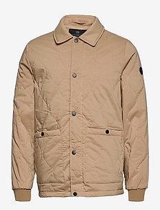 Classic quilted cotton-blend jacket - gewatteerd jassen - sand