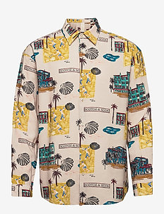 SEASONAL FIT- All-over printed twill shirt - casual shirts - combo a