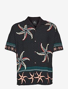 Ecovero™ printed oversized hawaiian shirt - peruspaitoja - combo a