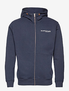 Classic organic cotton felpa zip-through hoodie - basic sweatshirts - night