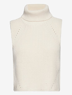 Chunky layering knit - strikveste - off white