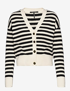 Chunky cotton blend cardigan - cardigans - combo s