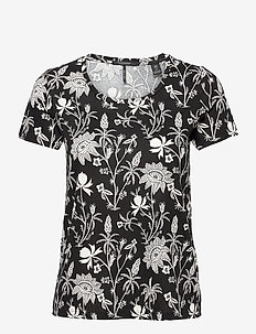 Printed short sleeve tee - t-shirts - ecru