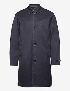 Chic twill trench coat with contrast topstitch - cienkie płaszcze - night