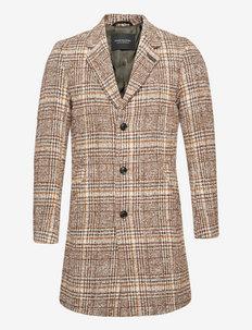 Single-breasted wool-blend overcoat - kurtki zimowe - combo a
