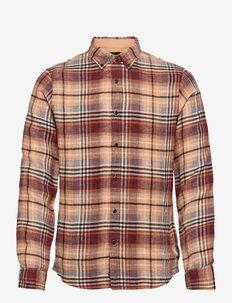 Checked twill shirt - geruite overhemden - combo a