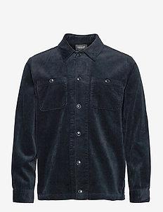 Seasonal relaxed fit corduroy overshirt - kleding - night