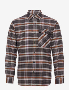 Checked brushed twill shirt - casual overhemden - combo c