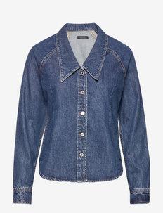 Ams Blauw - marškiniai ilgomis rankovėmis - indigo
