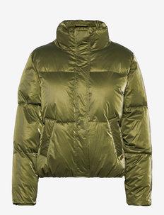 Water resistant metallic puffer jacket - doudounes - military