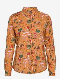 Printed regular fit shirt - džinsiniai marškiniai - combo d