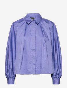 Pleated boxy fit shirt - palaidinės ilgomis rankovėmis - cornflower