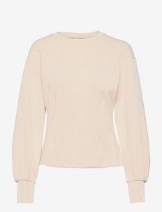 Voluminous sleeve sweat - sweatshirts - eggshell