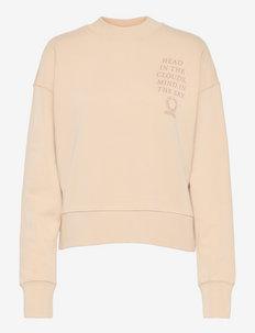 Crewneck cropped - sweatshirts & hoodies - eggshell