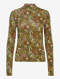Printed long-sleeved high neck - topy z długimi rękawami - combo f