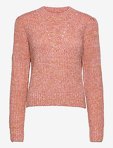 Loose fit crewneck pullover with puff sleeves - pulls - combo r