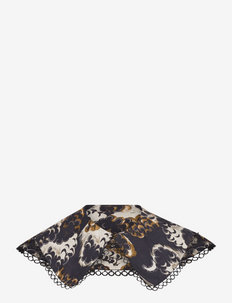 Printed double layered collar - krager - combo a