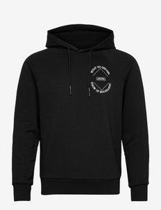 Hoodie with 'Amelia' artwork - hoodies - black