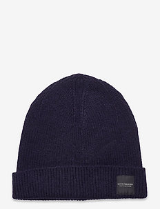 Unisex - Wool-blend rib knit beanie - pipot - night