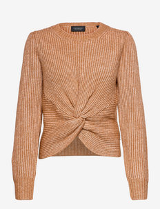Knotted relaxed-fit knit - pulls - copper melange