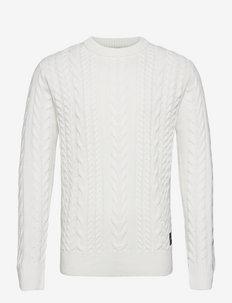 Seasonal monsanto crewneck pull - basic strik - off white