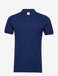 NOS - Classic garment dyed pique polo - kortærmede - navy