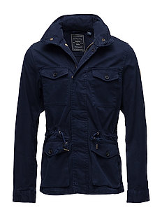 Garment-dyed field jacket - INK