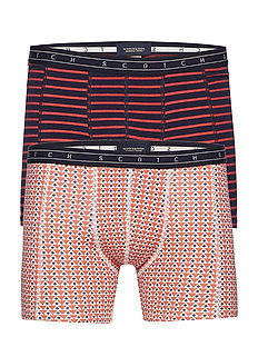 Boxer short in colourful all-over print & stripe - COMBO C