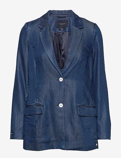 Ams Blauw chic denim Tencel blazer - oversized blazere - indigo