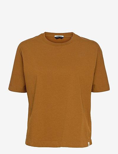 Organic cotton short sleeve tee - t-shirts - tabacco