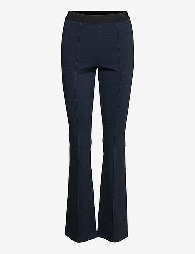 Ams Blauw indigo sporty flare legging - bukser - indigo