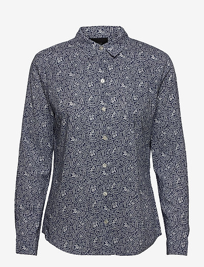 Printed shirt in organic cotton mix - denimskjorter - combo b