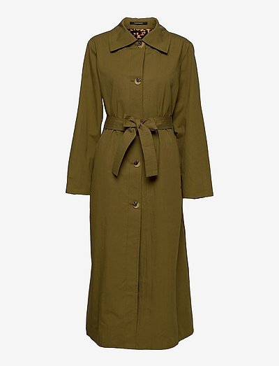 Long throw on reversible coat - trenchcoats - army