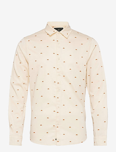 REGULAR FIT- All-over printed poplin shirt in organic cotton - linneskjortor - combo b