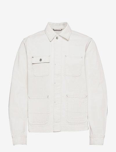 Ams Blauw workwear shirt jacket - spijkerjassen - workwear white