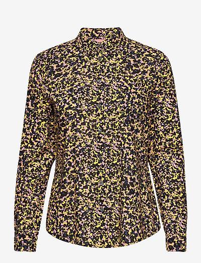 Printed shirt in organic cotton mix - denimskjorter - combo c