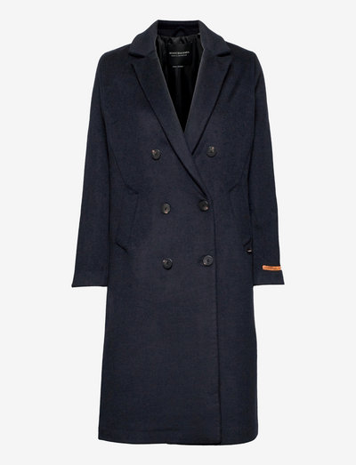 Double-breasted classic coat - ullkåper - night