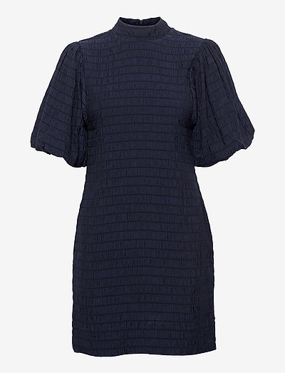 Mini dress with volumionous sleeve - summer dresses - night