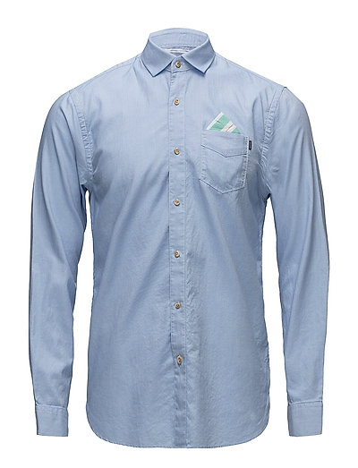 REGULAR FIT Classic oxford shirt with detachable pochet - BLUE