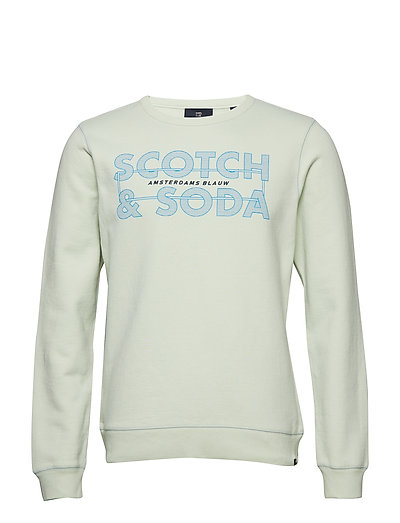 f9964f6d4843 Ams Blauw Graphic Sweat (Soft Mint) (479.40 kr) - Scotch & Soda ...
